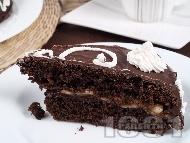 Рецепта Домашна шоколадова торта с бананов крем